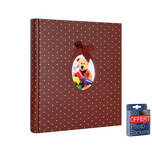 Album Fotografico Tradizionale di nascita orsetto Cioccolato 60pagine (Cioccolato Photo)