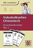 Vokabelkarten Chinesisch: Grundwortschatz, Teil 2