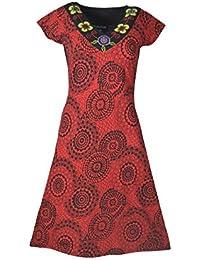 Mesdames robe rouge avec de la broderie -NEW RATO GODAVARI