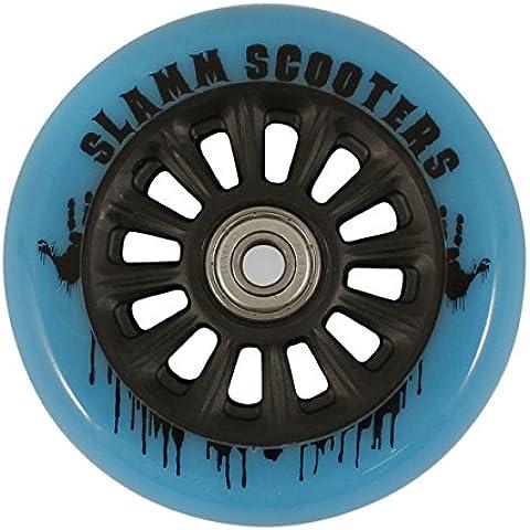 Rueda Y Ejes Slamm Pro Scooter Nailon Core - Azul