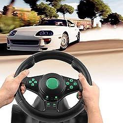 180degrés de Rotation Jeu Vibrations Racing Volant avec Pédales pour Xbox 360pour PS2pour PS3PC USB Volant de Voiture