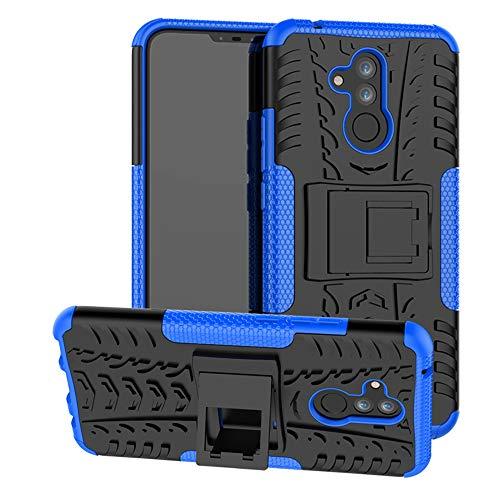 Labanema Huawei Mate 20 Lite Custodia, Kickstand Dual Layer Ibrida Rigida Morbido Armatura Resistente agli Urti con Supporto e asportabile di Protezione per Huawei Mate 20 Lite-Blu