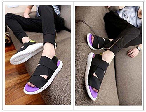 Herren Atmungsaktive Sandalen Sommer Neue Modelle Strand Schuhe Sport Freizeitschuhe Jugend Mode Slingback Hausschuhe Purple