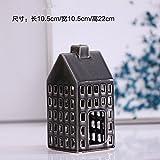 Home Artesanía Creativa, casas, candeleros, cerámica modelos estereoscópicos, Arte Candlestick, Home,22cm 10,5 * 10,5 *