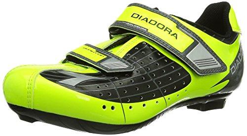 Diadora Phantom JR, Scarpe da Ciclismo Unisex-Bambino, Giallo (Schwarz/Gelb Fluo/Weiß 3444), 34 EU