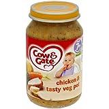 Cow & Gate Chicken & Pot de Veg savoureux à partir de 7m Onwards 200g x 6