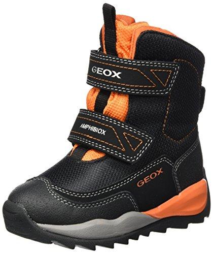 Geox Jungen J Orizont Boy ABX F Schneestiefel, Schwarz (Black/Orange), 33 EU