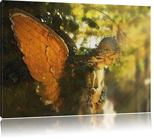 Goldenen Engel im Sonnenlicht, Format: 100x70 auf Leinwand, XXL riesige Bilder fertig gerahmt mit Keilrahmen, Kunstdruck auf Wandbild mit Rahmen, günstiger als Gemälde oder Ölbild, kein Poster oder Plakat