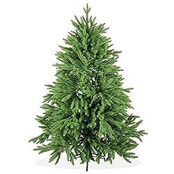 Künstlicher Weihnachtsbaum 150cm Deluxe In Premium Spritzguss Qualität, Grüne Nordmanntanne, Tannenbaum Mit Pe Kunststoff Nadeln, Nordmannstanne Christbaum