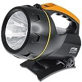Litexpress LX0103DSP Handscheinwerfer, Cree Hochleistungs-LED mit Lichtleistung bis zu 450 Lumen, Orange, Kunststoff, Schwarz, 20 x 14.8 x 18.8 cm