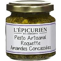 L'Epicurien Pesto Artisanal Roquette Amandes Concassée 100 g - Pack de 4