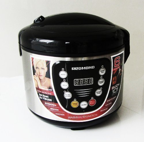 Redmond RMC-M4515DE Multikocher 700W 4 Liter 6 Programme 101 Rezepte! Deutsches Bedienfeld! Service in Deutschland! inkl. Kochbuch