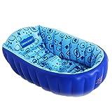 Yugang Aufblasbare Badewanne Tragbare Kinderbadewanne Verdickte aufblasbare unabhängige Tragbare mit Bequemer Hoher Qualität Weiche Sicherheitsbadewanne PVC (Farbe : Blue)