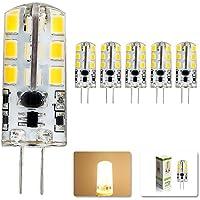 mengjay® ,5pezzi G4LED lampada 4Watt, Luce Bianca Calda 3000K lampadine a LED, 24LED SMD 2835angolo di illuminazione 360°, AC 220V, G4, 3.50 wattsW, 12.00 voltsV
