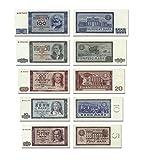 DDR Geldscheine 1964, von 5 bis 100 DDR Mark, TOP Reproduktion DDR Geldscheine 1964, von 5 bis 100 DDR Mark, TOP Reproduktion