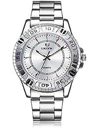 Skone Mens Reloj de negocios de acero giratorio biseles Reloj Esfera de color negro sj505102