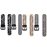 Fit-Power Uhrband, Ersatz für Smart Watch Garmin Forerunner 220/ 230/ 235/ 620/ 630, Einheitsgröße, Pack of 4-StyleF