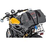 QBag Motorrad-Hecktasche Hecktasche/Gepäckrolle wasserdicht 09, inklusive anklickbarem Schultergurt, 2 stabile Tragegriffe, Netzinnentasche, großes Hauptfach, Dunkelgrau, 60 Liter