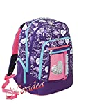 ZAINO SCUOLA SEVEN NEW ADVANCED HEART GIRL VIOLA ERGONOMICO E RIFRANGENTE