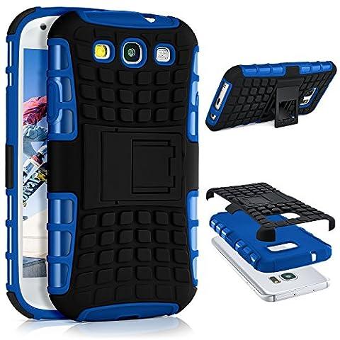 Samsung Galaxy S3 Hülle Silikon Hard-Case Blau [OneFlow Outdoor Back-Cover]