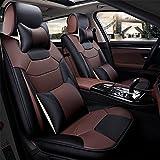 DIELIAN (Vorne + hinten) spezielle Leder Auto Sitzbezüge, Universal Auto Sitzbezüge Vorders hinten Sitzbezug für Full Set , Coffee