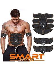 【La última Versión Original 2019】SMART FITNESS SPORT™ Electroestimulador Muscular Abdominales, Estimulación Muscular Masajeador Eléctrico Cinturón Abdomen/Brazo/Piernas/Glúteos. (Hombre / Mujer)
