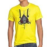 style3 Bad Meth Gasmaske T-Shirt Herren kostüm crystal breaking tv serie, Größe:L