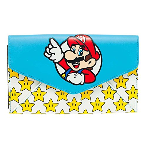 Nintendo Super Mario Bros. Monedero, multicolor (Varios colores) - BIO-GW172YSMB
