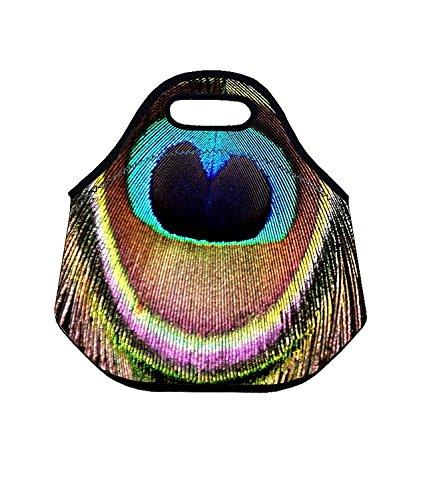 Pfau Isolierte Lunch Taschen für Frauen Modische Neopren Isolierte Lunch Tote wiederverwendbar Picknick Tasche Tote-geschenk-taschen