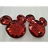 My Party Store DOT COM Cute Stylish Mickey / Minnie Princess Hair Clips For Girls/Kids (Pack Of 2) For Durga Pooja, KANJAK, Navratri, Birthdays And Parties (RED)