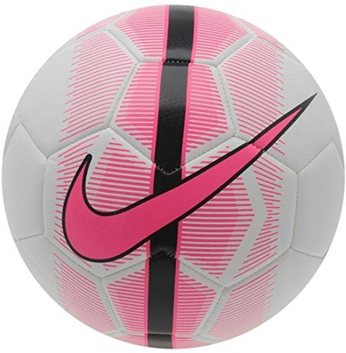 Nike Mercurial Veer Football - Size: 5, Diameter: 22.5 cm (Pack of 1, White, Pink, Black)  available at amazon for Rs.1480