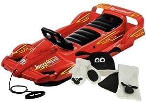 AlpenGaudi 999302Luge Double Race Conduite Rouge + Set d'hiver Timmy le mouton