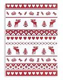 Halbleinen Geschirrtuch, TRIOLINO®, Druckmotiv Nordische Weihnacht, Format 50/70