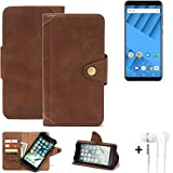 K-S-Trade Mobile Phone Wallet Case compatible with Vernee