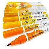 Royal Talens–EcoLine liquide aquarelle Dessin Peinture Brosse stylos–Lot de 5en plastique Portefeuille–Terre