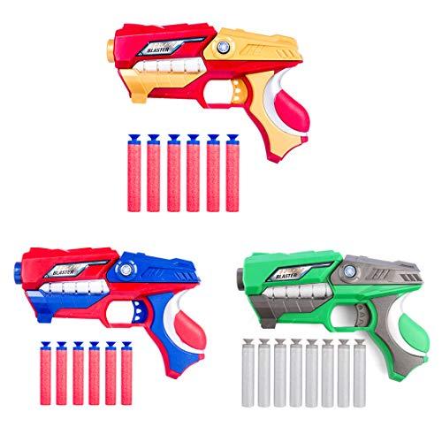 lzeug Pistole Spielzeugblaster mit Zielscheibe und 6er Dart Pfeile Saugnapf für Kinder (Zufällige Farbe) ()