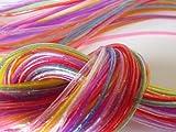 Pack of 50Scoubidou Threads, Fluorescent and Glitter