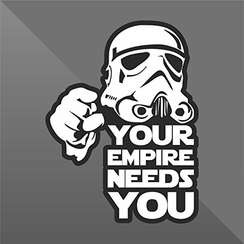 Sticker Star Wars Your Empire Needs You Funny - Decal Cars Motorcycles Helmet Wall Camper Bike Adesivo Adhesive Autocollant Pegatina Aufkleber - cm 13