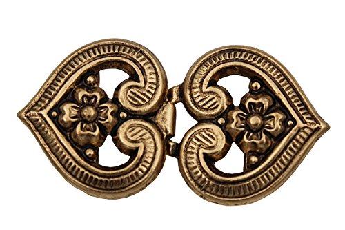 Schürzenschliesse gold Tracht Schnalle Metall Verschluss Dirndl 90x50mm 1 Stück