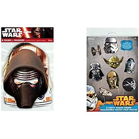Star Wars Party Masks and Photo Props, 16 pieces by Disney