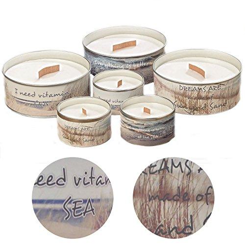LS Design 2x Duftkerze Kerzen Blütenduft Raumduft Aroma Kerze Lufterfrischer Maritim Set Meer (Garten Düfte Soja-kerze)