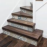 DS00027-01 - 5 bandes 100x17 cm - Agadir - Adhésifs pour les escaliers en PVC lavables, impression à très haute résolution et longue durée de vie. Décoration d'escalier, stickers muraux (personnalisables sur demande)...