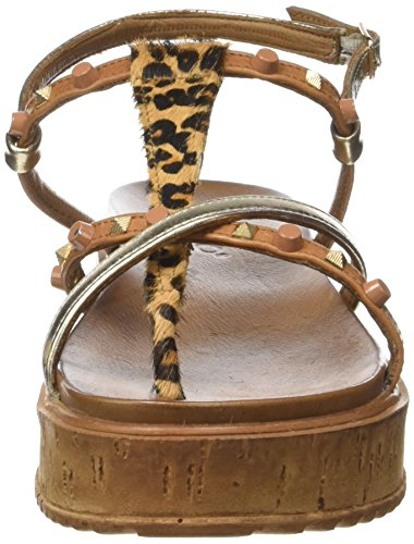 Inuovo - 7272, Longe De Cheville Multicolore Pour Femme (léopard Or Et Noix De Coco)