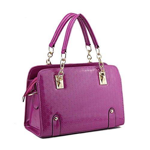 Beatayang Damen Elegant Schultertasche Handtasche Violett1