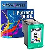 PlatinumSerie® 1x Tinten-Patrone für HP 343 XL Color Photosmart C3100 Pro B8300 Pro B8330 Pro B8350