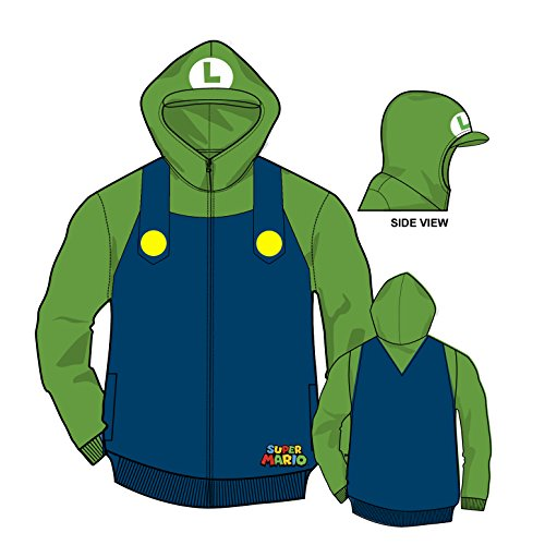 Boys Super Mario Luigi Hoodie X-Large