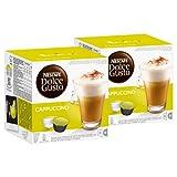 Nescafé Dolce Gusto Cappuccino, Kaffee, Kaffekapsel, 2er Pack, 2 x 16 Kapseln (16 Portionen)