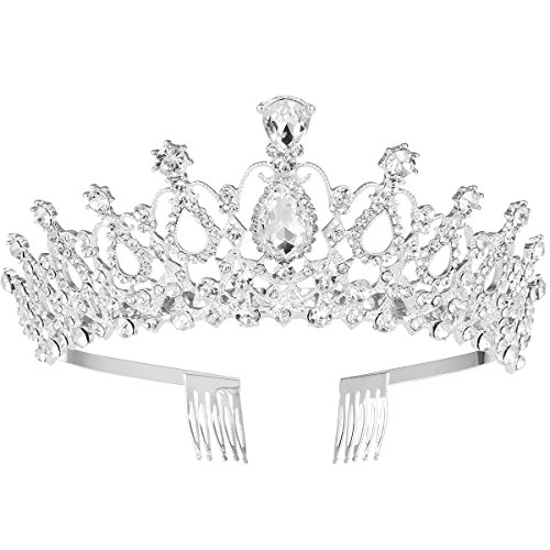 Billig Princess Kronen - Frcolor Bridal Crystal Stirnband Crown Tiara