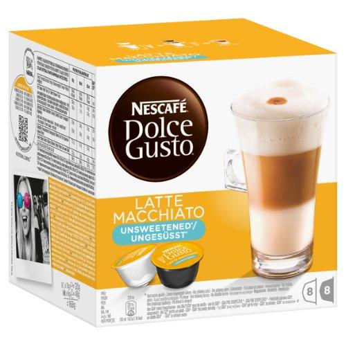 Nescafé Dolce Gusto Latte Macchiato Ungesüßt, Kaffee, Kaffeekapsel, 4er Pack, 4 x 16 Kapseln (32 Portionen) - 2