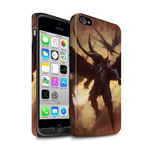 Offiziell Chris Cold Hülle / Matte Harten Stoßfest Case für Apple iPhone 4/4S / Herzensucher Muster / Wilden Kreaturen Kollektion Flügel von Nox